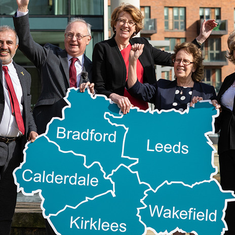 Yorkshire Leaders celebrating the devolution deal